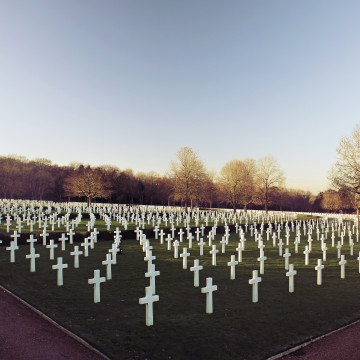 WW1 sensory experience 4 image of a field of white crosses