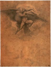 Fig. 1) Michelangelo, The Rape of Ganymede, 1532.