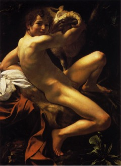 Fig. 10) Caravaggio, Saint John the Baptist, 1602.