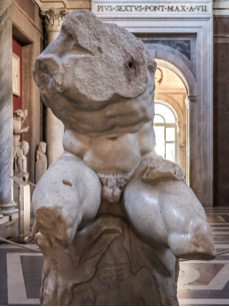 Fig. 3) Belvedere torso, c. 1st century B.C.