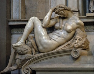 Fig. 5) Michelangelo, Night, 1526-31.