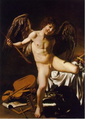 Fig. 6) Caravaggio, Amor Vincit Omnia, 1602