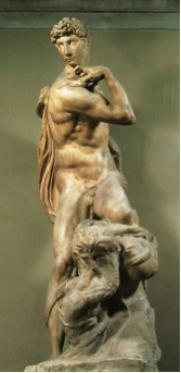 Fig. 7) Michelangelo, Genius of Victory, 1532-4