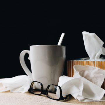 tissues and tea, decorative image
