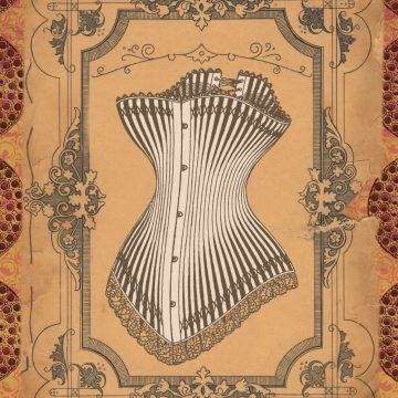 decorative image of corset