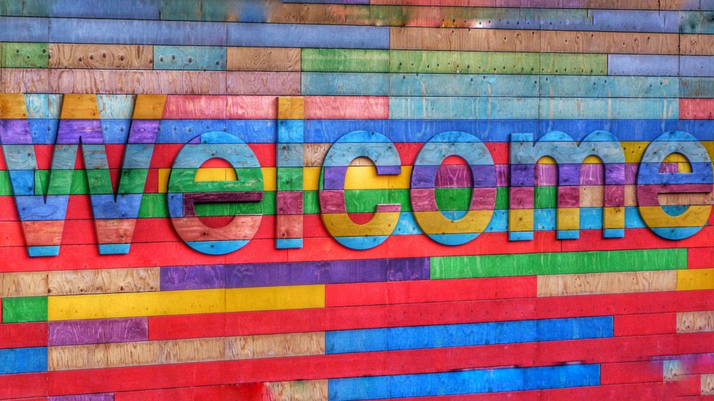 decorative image: welcome sign