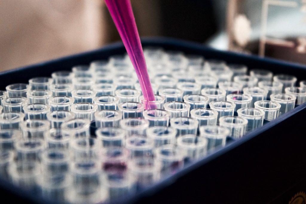 decorative image: liquid in test tubes