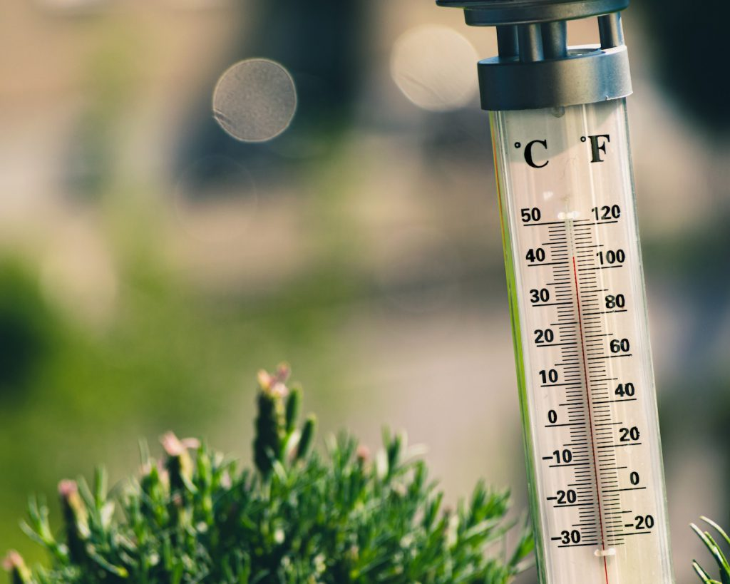 decorative image: thermometer outside