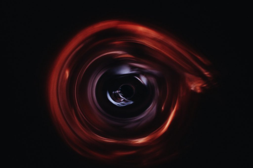 decorative image: black hole, artistic