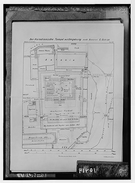 Ground plan of Herod's Temple and environment